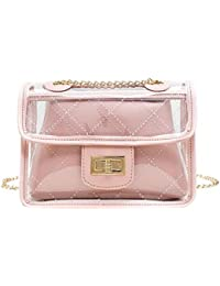 AFFECO Fashion Transparent PVC Women Chain Shoulder Bag Daily Small Messenger Bag
