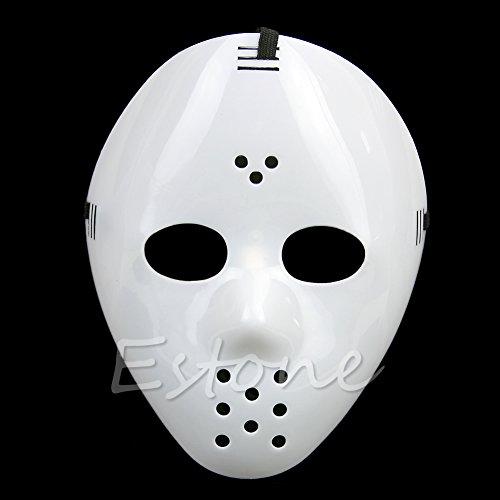 Hergon Kunststoff Schwarz Freitag Maske, Halloween-Kostüm Cosplay Horror Maske, Party Spielzeug Geschenk, Party ()