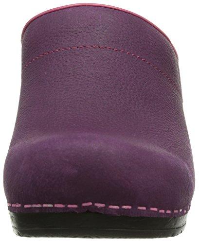 Sanita Eden open Damen Clogs Violett (Purple 32)