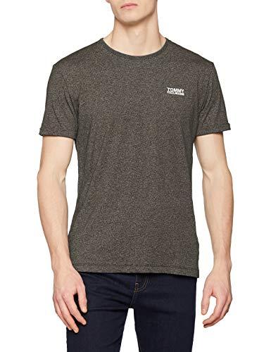 Tommy Jeans Herren Modern Jaspe  Kurzarm  T-Shirt Grün (Forest Night 397) XX-Large (Herstellergröße: XXL)