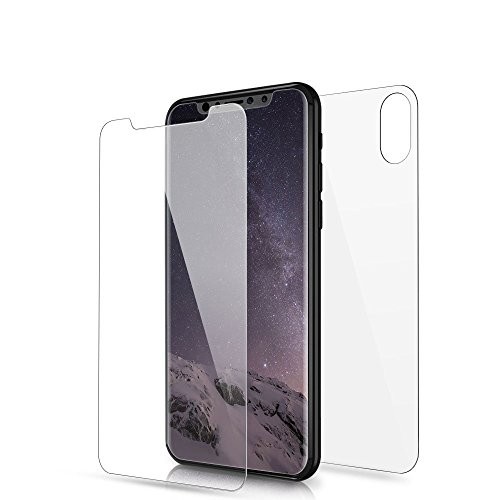PhoneStar iPhone X Panzerglas Folie Front Back [VORNE UND HINTEN] 3D Screen Protector Displayschutz 9H