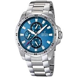 Festina F16662/2 - Reloj analógico de cuarzo para hombre con correa de acero inoxidable, color plateado