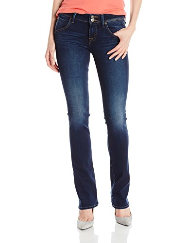 Hudson Jeans Women's Beth Midrise Baby Bootcut Flap Pocket Elysian Denim Jean, Corps, 27 Beth Baby Boot