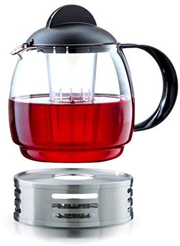 Boral Glas Teekanne Mikrowellenkanne 1,8L mit Teesieb