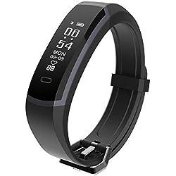 seegar Montre Connectée Podomètre Smartwatch Bracelet Connecté Fitness Tracker d'Activité Cardio Sport avec Cardiofréquencemètre pour iPhone Android Smartphone Femme Homme