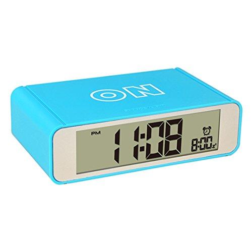 Likecom Intelligent Bett Flip Ein / Aus Wecker Top Berührungs Sensor Digital Uhr mit Schlummer Modus - Blau Digitale Flip-uhr