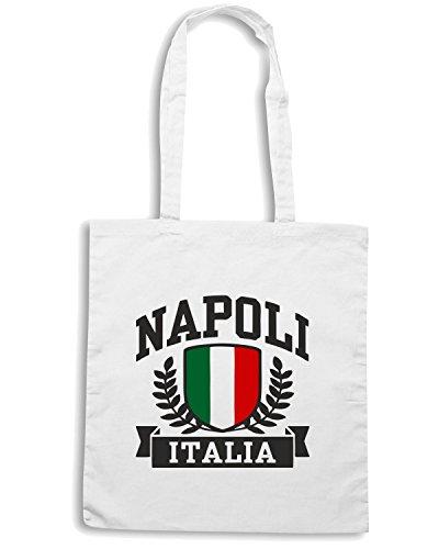 T-Shirtshock - Borsa Shopping TSTEM0067 napoli italia white Bianco