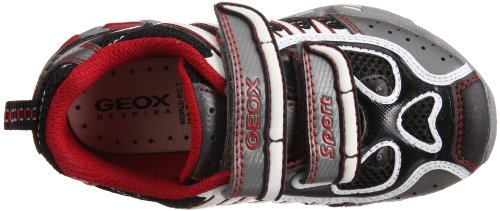 Geox Junior light Eclipse J1110Z014CEC0025 Jungen Sneaker Schwarz/Black/Red