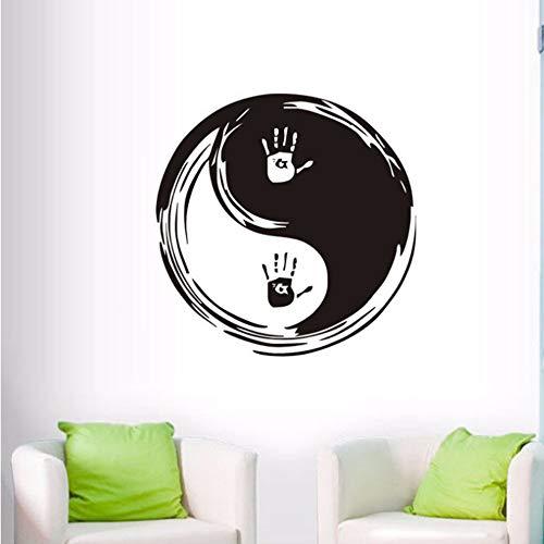 Wandaufkleber Moderne Wandtattoos Yin Yang Vinyl Wandaufkleber Chinesische Philosophie Removable Home Decor Wallpaper Dekoration 58X58 Cm
