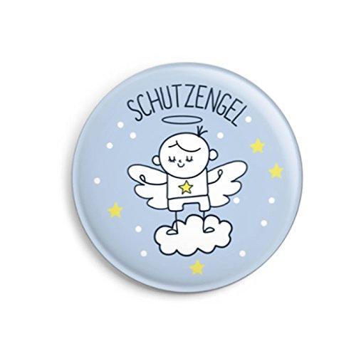 dabelino Schutzengel-Button (Ø32mm) für Kinder/ Jungen (Geschenk zur Taufe, Kommunion, Konfirmation, Geburt)
