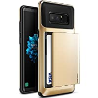 Samsung Galaxy Note 8 Case, VRS Design® [Shine Gold] Protective Wallet Case with 2 Card Slot [Damda Glide] ShockProof Premium TPU Layered Phone Cover for Galaxy Note 8 (2017)