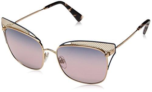 Valentino Damen 0VA2017 3031E6 55 Sonnenbrille, Blau (Rose Gold Blue/Trisgradientblueepinkmirror)