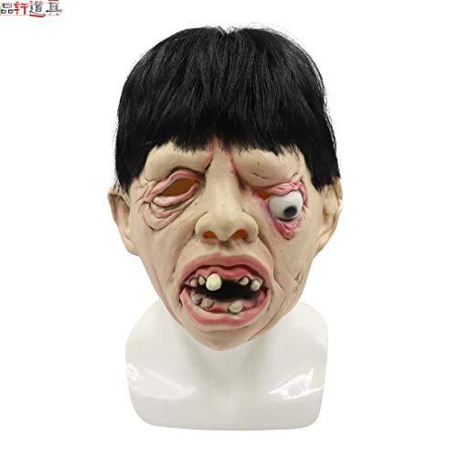 ZHLJ Halloween-Maskerade-Geistermasken-Haar-Grimassen-Horror-Masken-Requisiten Maske