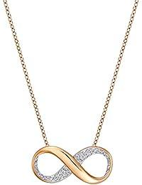 Swarovski Damen-Kette mit Anhänger Exist Small Halskette Kristall transparent 40 cm - 5188401