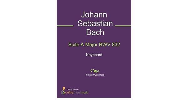 Suite A Major BWV 832 - Keyboard