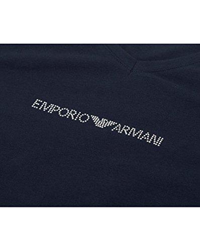 Emporio Armani Damen V-Neck T-Shirt 163321cc317 Blau (MARINE 00135)