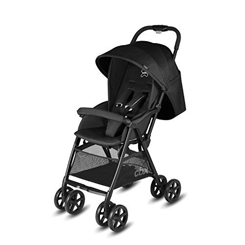Cbx Yoki - Silla de paseo, ultracompacta, incluye cubierta para lluvia, desde el nacimiento hasta los 15 kg, Smoky Anthracite
