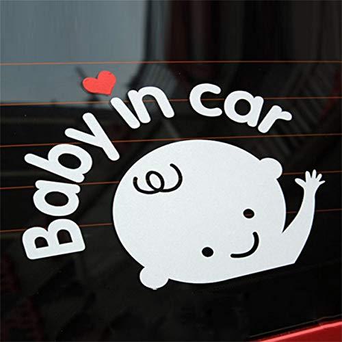 Kreative 17 * 14 cm Baby An Bord Baby Im Auto Auto Aufkleber Wasserdichte Reflektierende Auto Aufkleber Auf Der Windschutzscheibe (Autos Windschutzscheibe Aufkleber)