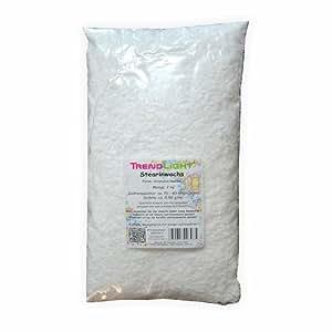 TrendLight 890019-2 Cire d'origine végétale pour fabrication de bougies Blanc 2 kg