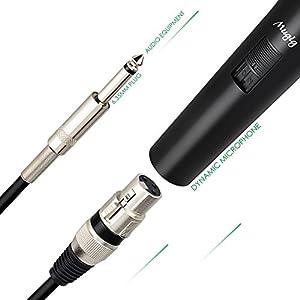 Microfono Dinamico Mugig professionale Unidirezionale cardioide vocale per Karaoke Studio di registrazione con Cavo XLR Jack 6.3/5M