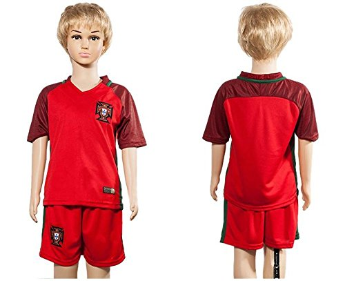 2016 2017 Portugal Home für Kinder Kid Jugend Fußball Soccer passt Jersey in Rot xl 7 - Youth Portugal Jersey Soccer