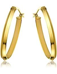 Miore  Ohrringe Damen, Schmuck Gelbgold , Creolen 9 Karat / 375 Gold