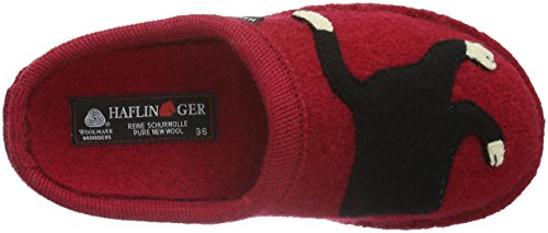 Haflinger Babsy, Chaussons mixte adulte Rouge - Rot (Ziegelrot 85)