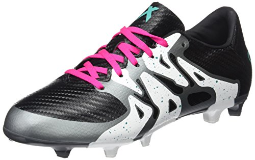 adidas Unisex Baby X 15.3 FG/AG J Fußballschuhe, Schwarz/Grün/Weiß (Negbas/Menimp/Ftwbla), 30 EU