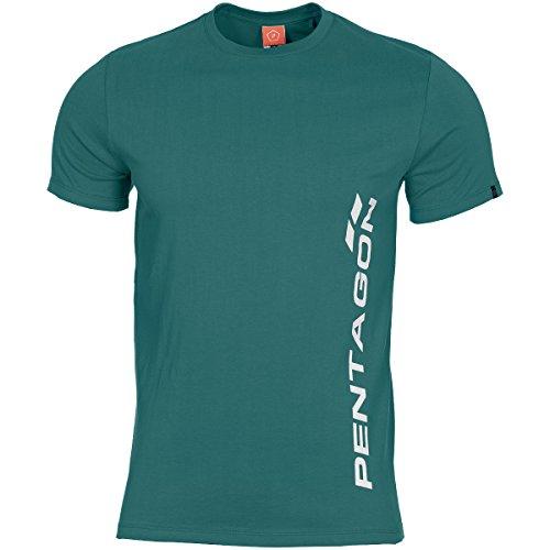Pentagon Herren Ageron T-Shirt Vertical Petrol Blue größe M