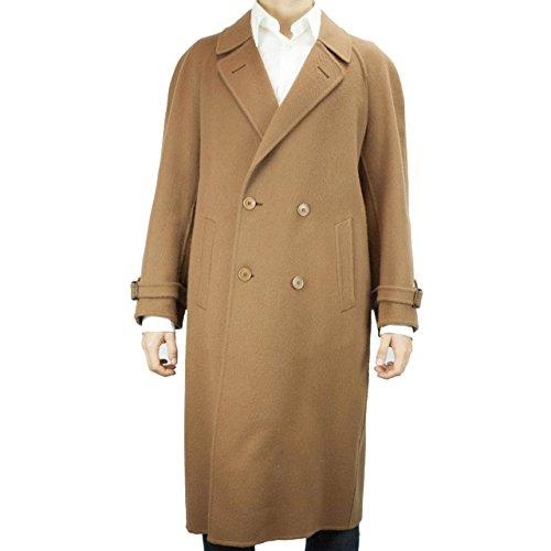 cappotto-3-4-doppiopetto-uomo-48-m-100-puro-cashmere-marrone-cammello-ing-loro-piana