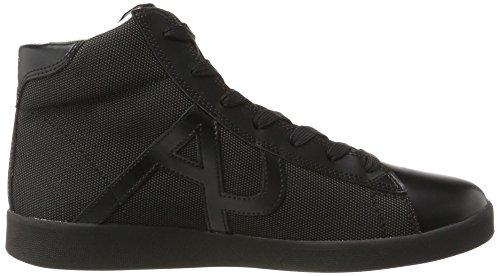 Armani Jeans Herren Sneaker High Cut Hohe Schwarz (Nero)