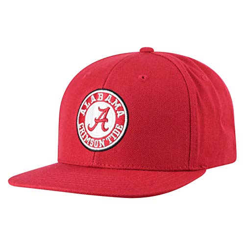 Top of the World NCAA Alabama Crimson Tide Men's Flat Brim Snap Back Team Icon Hat, Cardinal (Ncaa-team)