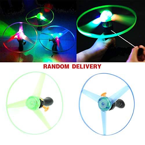 only y Nur y 1 stück Frisbees Bumerangs Flying Saucer Hubschrauber UFO Spin LED Licht Outdoor Spielzeug