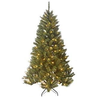 Black Box Trees Negro de árboles 1002218-02 Delmonto árbol de Navidad Artificial con Luces de Color Altura 215 cm, diámetro: 132 cm/240 ledes 1043 Puntas, PVC, o de Madera Weichnadel Helado, Puntas