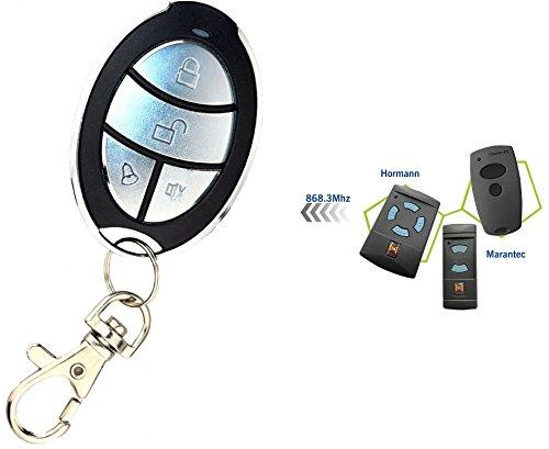 HD-LINE hr-mr-868 Télécommande pour Porte de Garage 868 Mhz Argent