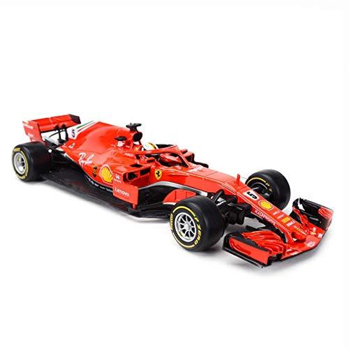 Jackson Wang Modellauto Formel F1 Meisterschaft 2018 Ferrari 1:18 Modelldruckguss Modelllegierung Modellsammlung Ornamente Geschenk Dekoration,Red -