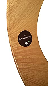 MyYogaWheels UK Yoga Wheel Prop - Improve Balance, Spine Flexibility, Asana + Inversion Stretches, Pilates Bends, Release Deep Tissue Tension - Physio Massage to Open Chest, Back, Hips + Shoulders