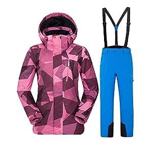 Zgsjbmh Ski/Snowboard Daunenjacke, Herren Outdoor-Skianzug-Set Frauen Skianzug-Set Männer Paare Set Schnee Anzug Skianzüge für Herren Hosenträger Skihose