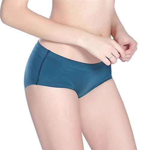 ZHUDJ Sous-Vêtements Des Femmes De Réconfort, Respirant La Sueur-Soft Non-Marquant Dans Le Triangle ? Sous-Vêtement Pour Femmes Taille De Pur Coton Dark green