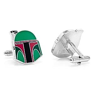 Beaux Bijoux Star Wars ManschettenknöpfeBoba Fett Helm, für Herren, vergoldet, in Geschenkbox