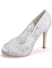 Elegant High shoes5915-18 Sandali da Donna da Donna/Buckle Nights Office & Career Fine Heels, blu, 37
