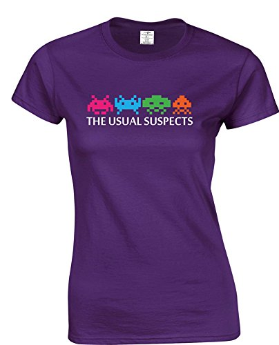 Women's Space Invaders 'The Usual Suspects' Premium T-shirt - Choice of Colours - S to XXL