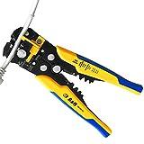S&R Spelafili Automatica - 3 in1: Pinza Crimpatrice, Spelacavi, Cutter autoregolante, con vite per Regolazione Fine o Automatica