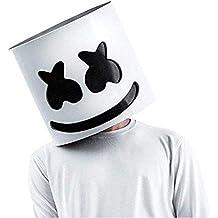SHI WU DJ Marshmello Máscara Marshmello Casco para el Festival de Música Máscara de Halloween Accesorios