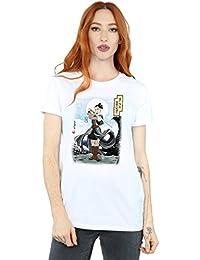 Star Wars Mujer The Last Jedi Japanese Rey Camiseta del Novio Fit