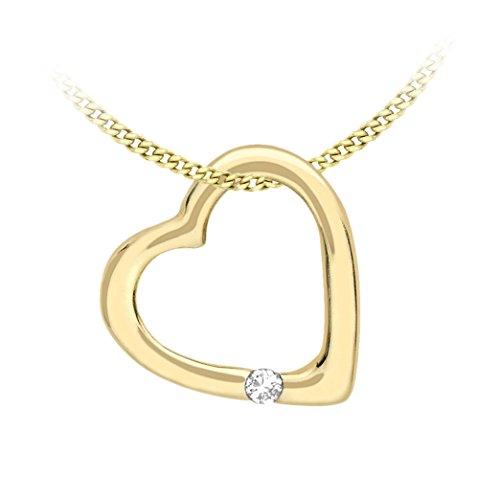 Carissima Gold Damen Kette 9 Karat (375) Gelbgold Diamant 460 mm 1.45.4884