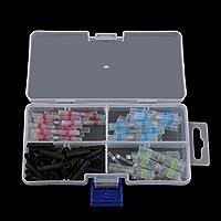 100 UNIDS/CONJUNTO Mangas de soldadura termorretráctiles Terminales a tope de alambre de conexión Conectores Kit de funda de soldadura con caja