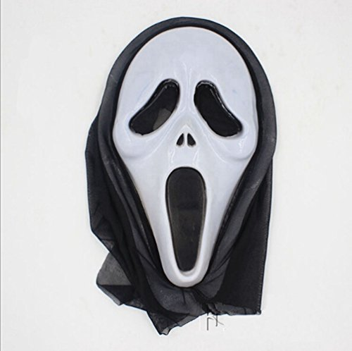 Zantec One Piece Halloween Bleeding Scream Scary Horror Ghost Mask Can Be Used During Dress Party (Kostüm Cod Ghost Mw2)