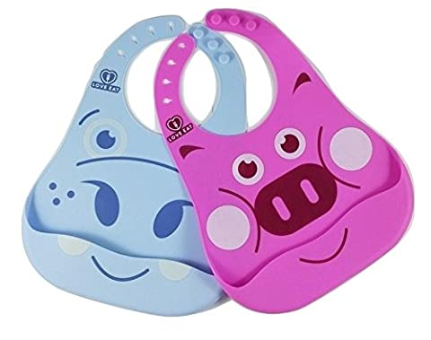 FLASH SALE Soft Baby Bibs - Waterproof, Easy Wear and Clean Bib - Comfortable, Safe (3 Happy Meal)