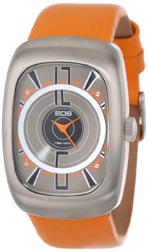 EOS New York Men's 110SORG Speaker Orange Leather Strap Watch